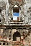El palacio arruinado de rey Narai en el reino de Ayutthaya Fotografía de archivo libre de regalías