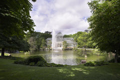 El palacio cristalino bien conocido Foto de archivo