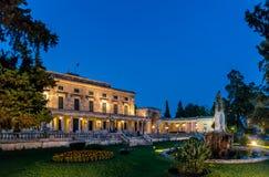 El palacio de Corfú Imágenes de archivo libres de regalías