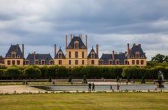 El palacio de Fontainebleau Fotos de archivo libres de regalías