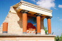 El palacio de Knossos Heraklion Grecia crete foto de archivo libre de regalías