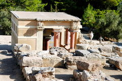 El palacio de knossos Heraklion Grecia crete foto de archivo