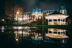 El palacio de la cultura de Iasi, Rumania Imagen de archivo libre de regalías
