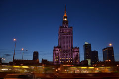 El palacio de la cultura y de la ciencia en Varsovia fotografía de archivo libre de regalías