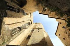 El palacio de los papas Imagen de archivo libre de regalías