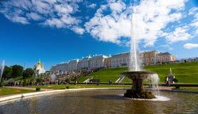 El palacio de Peterhof Fotografía de archivo