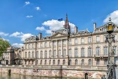 El palacio de Rohan en Estrasburgo. Imagen de archivo libre de regalías