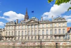 El palacio de Rohan en Estrasburgo Foto de archivo libre de regalías