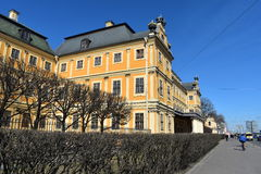 El palacio de St Petersburg Menshikov es Petrine Baroque que el estilo era el primer edificio de piedra en St Petersburg Fotos de archivo libres de regalías