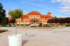 El palacio de Troja es un palacio barroco situado en Troja, República Checa de la ciudad del noroeste de Praga foto de archivo libre de regalías