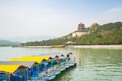 El palacio de verano en la ciudad de Pekín, China Imagen de archivo libre de regalías