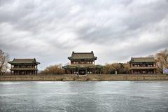 El palacio de verano por la tarde del invierno Fotografía de archivo libre de regalías