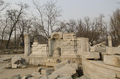 El palacio de verano viejo, Yuan Ming Yuan los jardines de los jardines imperiales perfectos de Dashuifa Guanshuifa del brillo en Imágenes de archivo libres de regalías
