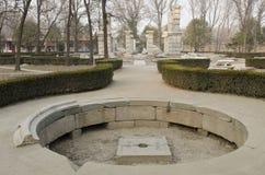 El palacio de verano viejo, Yuan Ming Yuan los jardines de los jardines imperiales perfectos de Dashuifa Guanshuifa del brillo en Fotos de archivo libres de regalías