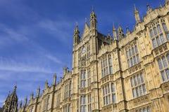 El palacio de Westminster Imágenes de archivo libres de regalías