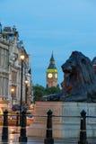 El palacio de Westminster Big Ben en la noche, Londres, Inglaterra, Reino Unido Fotos de archivo libres de regalías