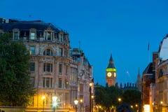 El palacio de Westminster Big Ben en la noche, Londres, Inglaterra, Reino Unido Fotografía de archivo