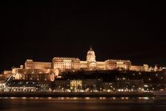 El palacio del castillo en Budapest imagen de archivo