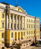 El palacio del gobierno en Helsinki Foto de archivo