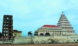 El palacio del maratha del thanjavur con el campanario Imagenes de archivo