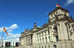 El palacio del parlamento alemán llamó el reichstag en la ciudad de Imagen de archivo