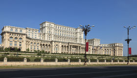 El palacio del parlamento, Bucarest, Rumania Imágenes de archivo libres de regalías