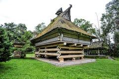 El palacio del rey de Batak en Sumatra Fotografía de archivo