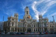 El palacio en cibeles de la plaza, Madrid Fotos de archivo
