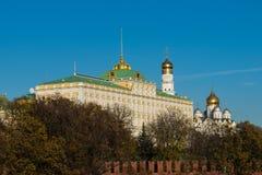 El palacio magnífico del Kremlin en Moscú, Rusia Foto de archivo libre de regalías