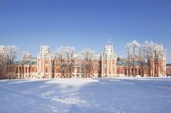 El palacio magnífico en Tsaritsyno imagenes de archivo
