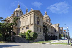 EL Palacio Nacional de Montjuic Lizenzfreie Stockfotografie