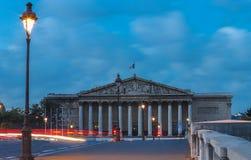 El palacio nacional francés de Montaje-Borbón más Bajo del parlamento, París foto de archivo
