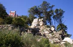 El palacio Portugal de Pena el museo del castillo es un parque real del paisaje de la residencia del verano Imagen de archivo libre de regalías