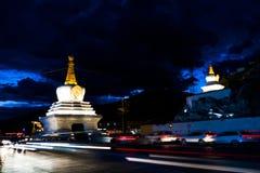 El palacio Potala en Lasa, Tíbet Imagenes de archivo