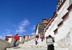 El palacio Potala en región de Lasa, Tíbet Fotografía de archivo
