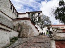 El palacio Potala en región de Lasa, Tíbet Fotos de archivo
