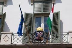 El palacio presidencial en Budapest Hungría Imágenes de archivo libres de regalías