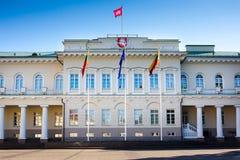 El palacio presidencial en Vilnius Foto de archivo