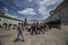 El palacio presidencial, Varsovia, Polonia imagen de archivo