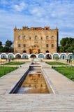 El palacio árabe, el Zisa, Palermo. Imagen de archivo libre de regalías