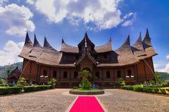 El palacio Sumatera del oeste de Pagaruyung foto de archivo