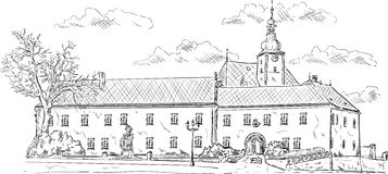 El palacio viejo Fotografía de archivo libre de regalías