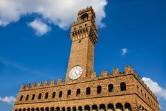 El palacio viejo (della Signoria de Palazzo Vecchio o de Palazzo), Flor Imagen de archivo
