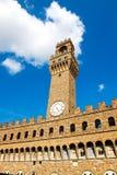 El palacio viejo (della Signoria de Palazzo Vecchio o de Palazzo), Flor Fotografía de archivo