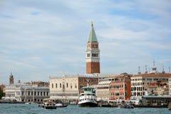 El palacio y el campanil del dux en Venecia - Italia Fotografía de archivo libre de regalías