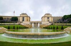 El Palais de Chaillot en París imagen de archivo