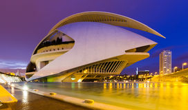 El Palau de les Arts Reina Sofia in evening time Royalty Free Stock Images
