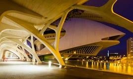 EL Palau de les Arts Reina Sofia nel tempo di sera Fotografia Stock