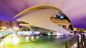El Palau de les Arts Reina Sofia  in Valencia Stock Photo