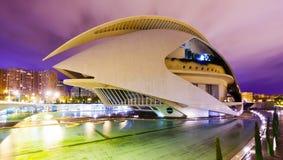 El Palau de les Arts Reina Sofia  in Valencia Stock Photo